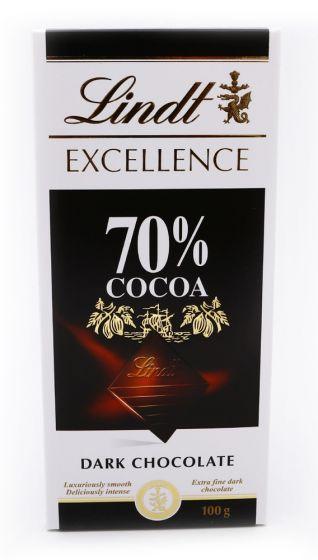LINDT EXCELLENCE 70% DARK CHOCOLATE