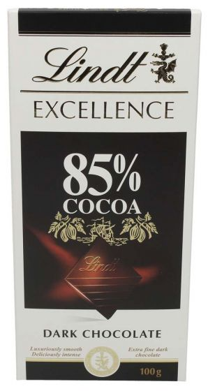 Lindt Excellence 85% Cocoa Dark Chocolate 100G