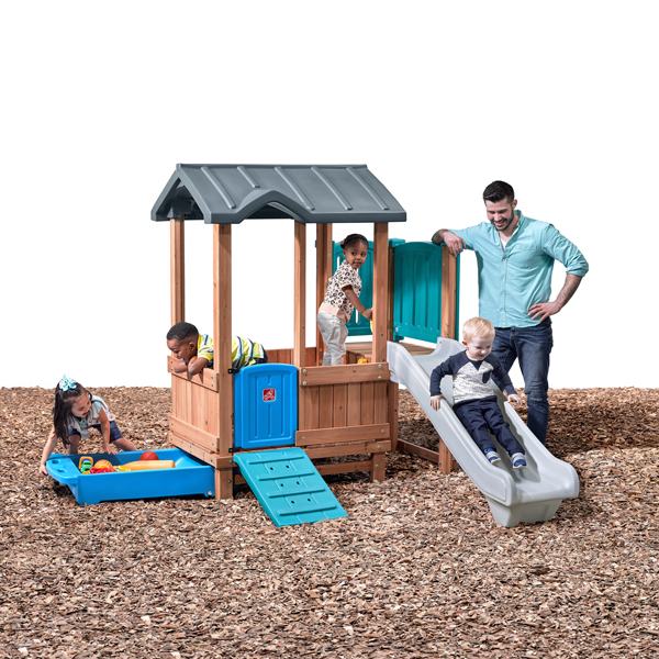 WOODLAND ADVENTURE PLAYHOUSE&SLIDE - Kraft Cartons---4906KR