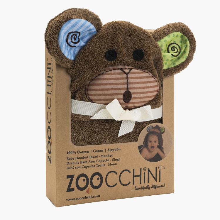 منشفة بقبّعة على شكل القرد ماكس من زوكيني- طقم من 3 قطع