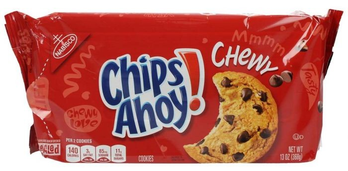 NABISCO CHIPS AHOY CHEWY CHOCOLATE CHIP COOKIES 368G