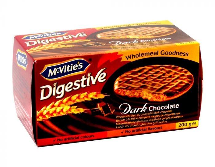 MCVITIES DIGESTIVE DARK CHOCOLATE BISCUITS 200G