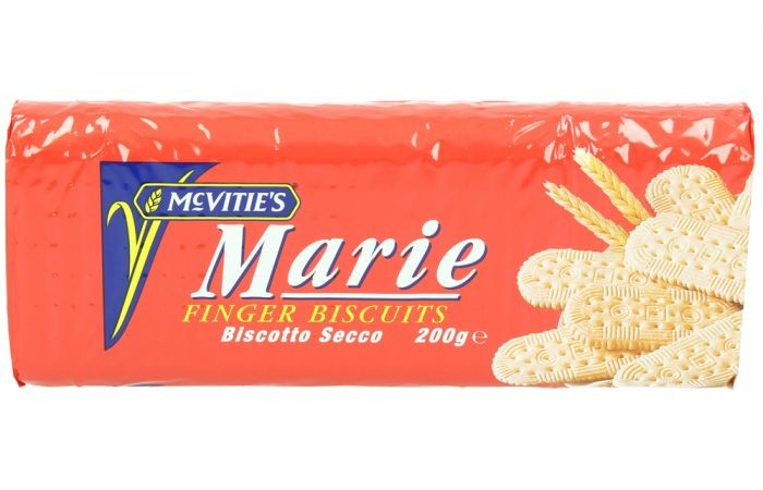 MCVITIES MARIE FINGER PLAIN BISCUITS 200G