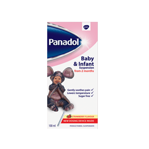 Panadol suspension 2months strawberry flavor 100ml