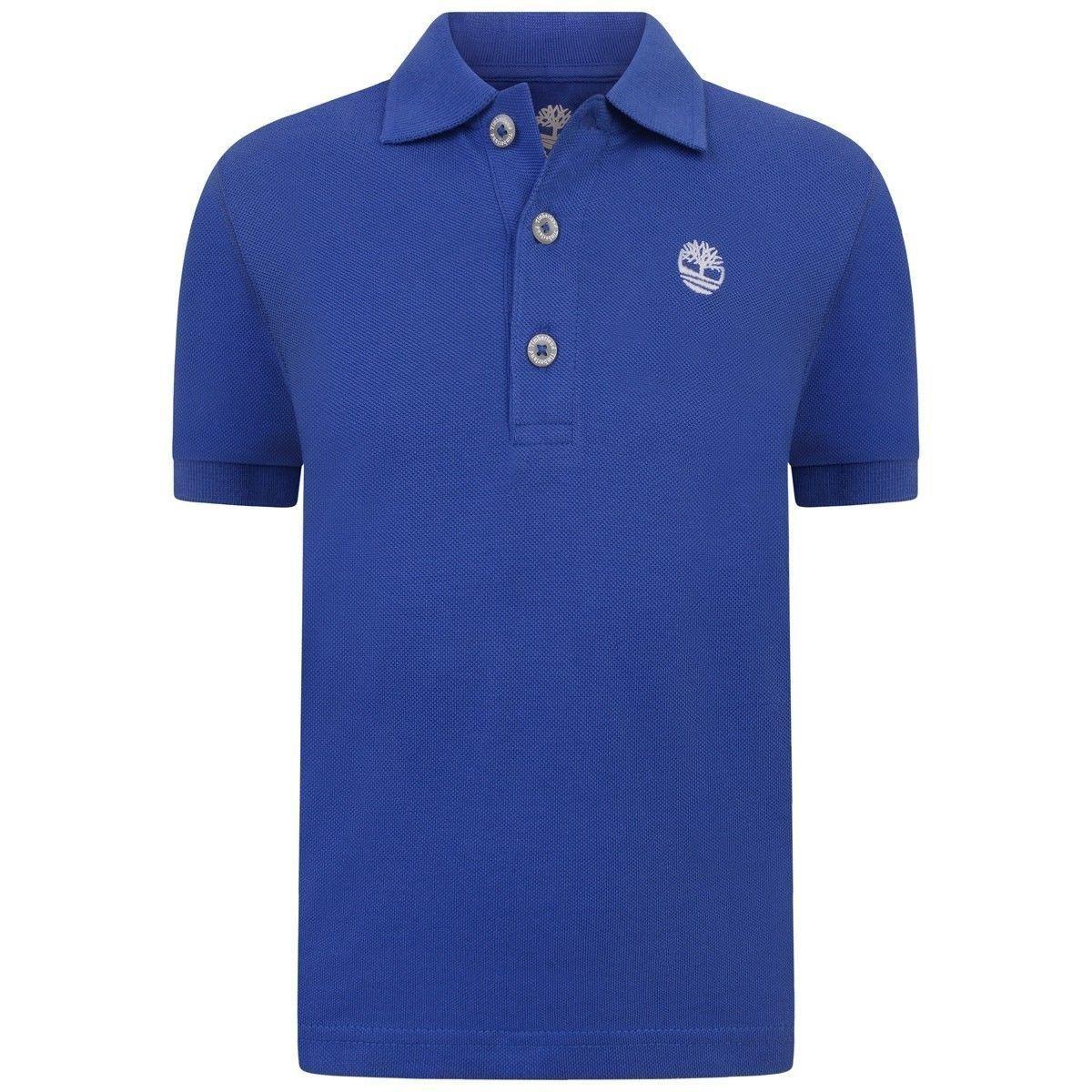 Timberland Boys Blue Cotton Pique Polo Top