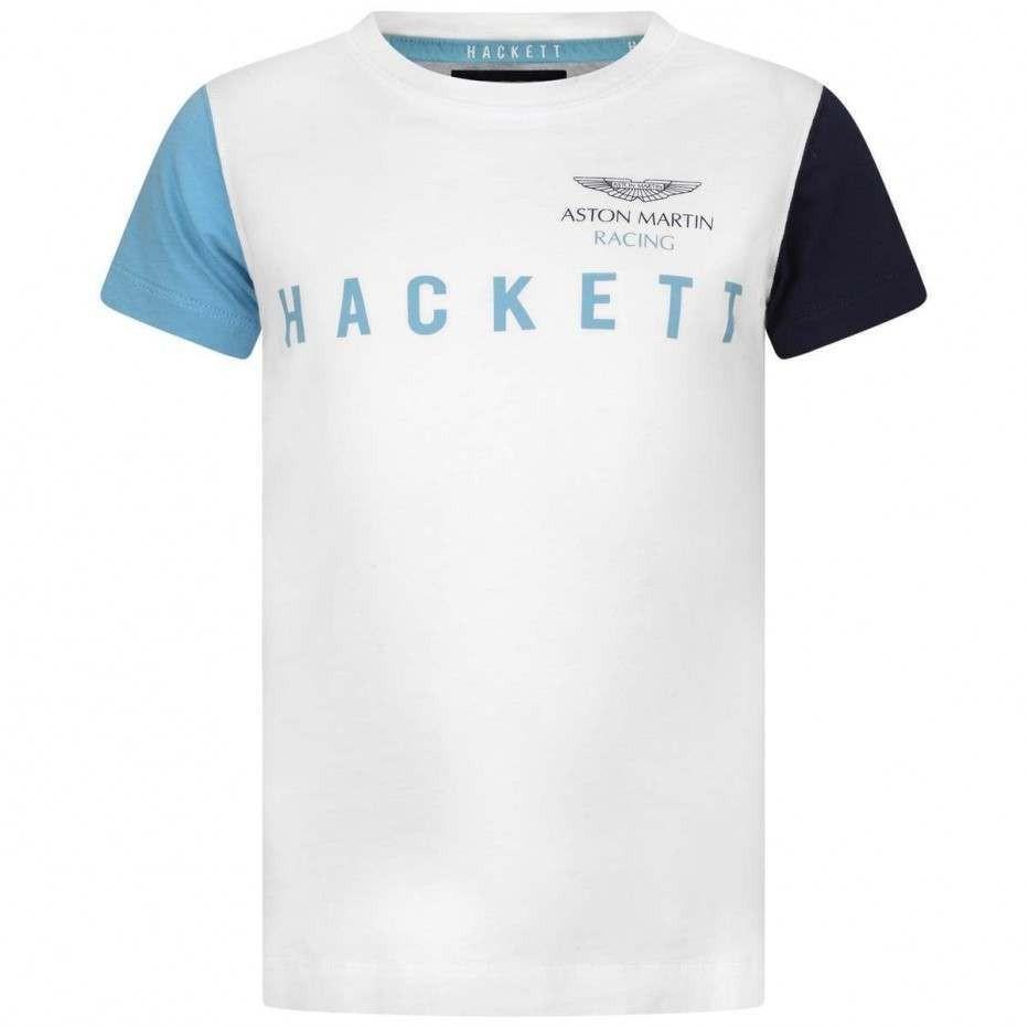Hackett White Cotton Aston Martin Racing Top
