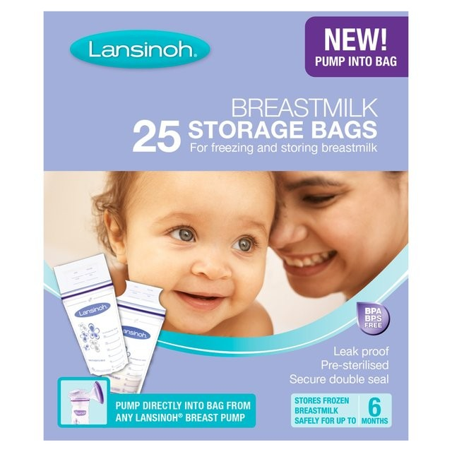 Lansinoh, حقائب تخزين لبن الأم ، 25 أكياس معقمة