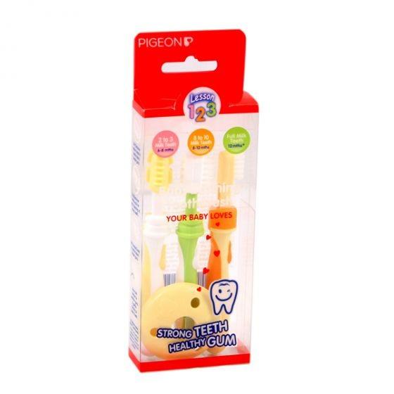 بيجون طقم فراشي أسنان للأطفال 4قطع