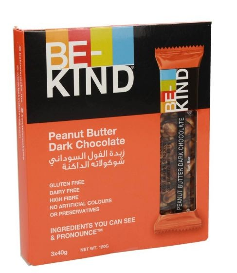 Be Kind Peanut Butter Dark Chocolate Snack 120g