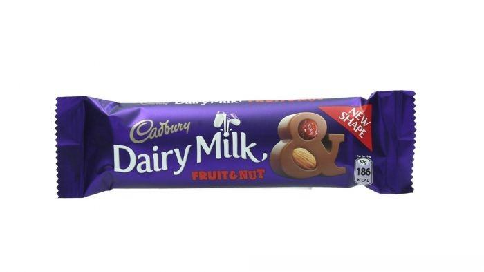 Cadbury Dairy Milk Fruit & Nut Milk Chocolate With Raisins And Almond 37G