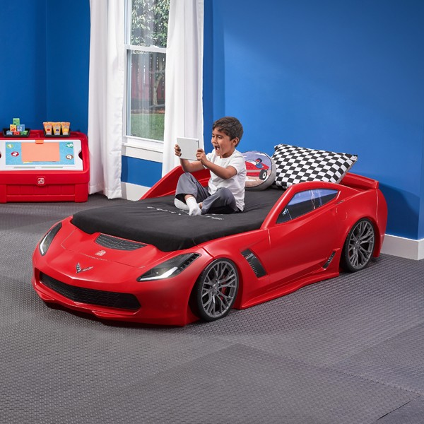 Z06 CORVETTE TODDLER-TO-TWIN BED W/LIGHTS-860000-
