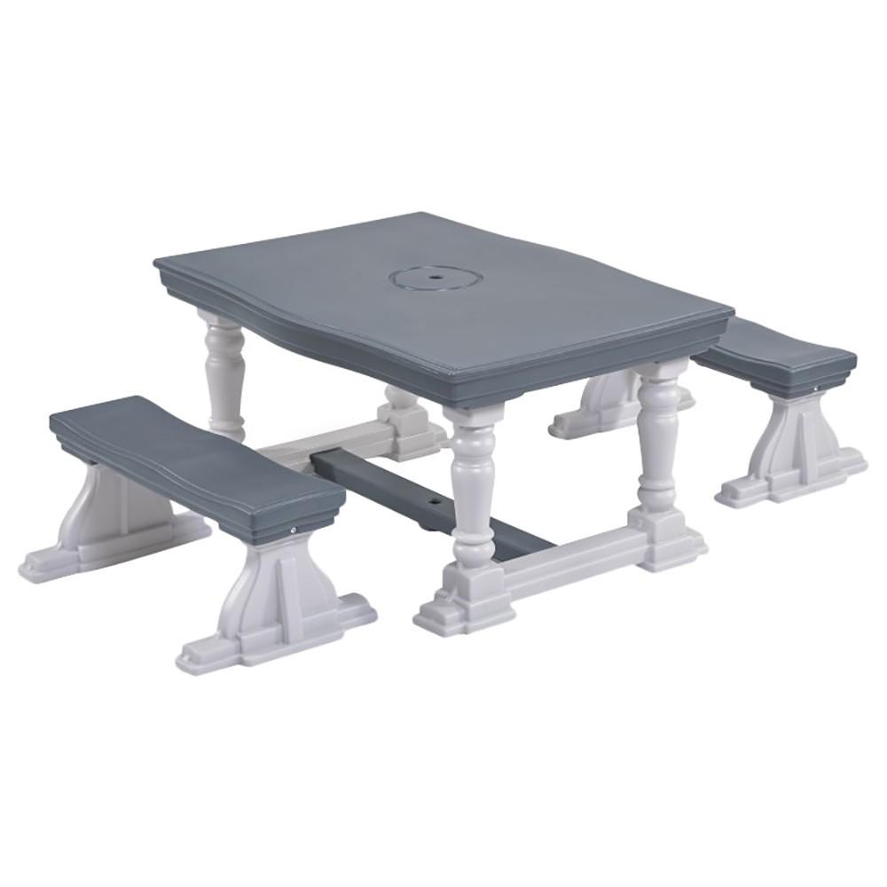 3 PIECE FARMHOUSE TABLE & BENCH SET - Kraft Carton--------493999