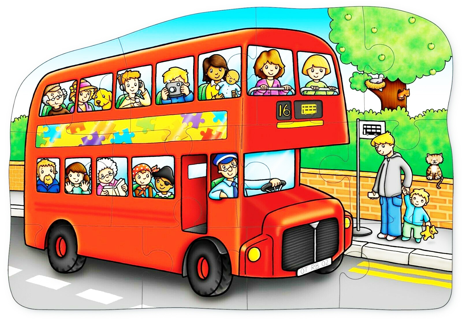 jigsaw puzzle little bus