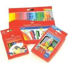 Faber Castell Connector Pen+Color Pencil 12 Pcs+Water Color 8 Pcs