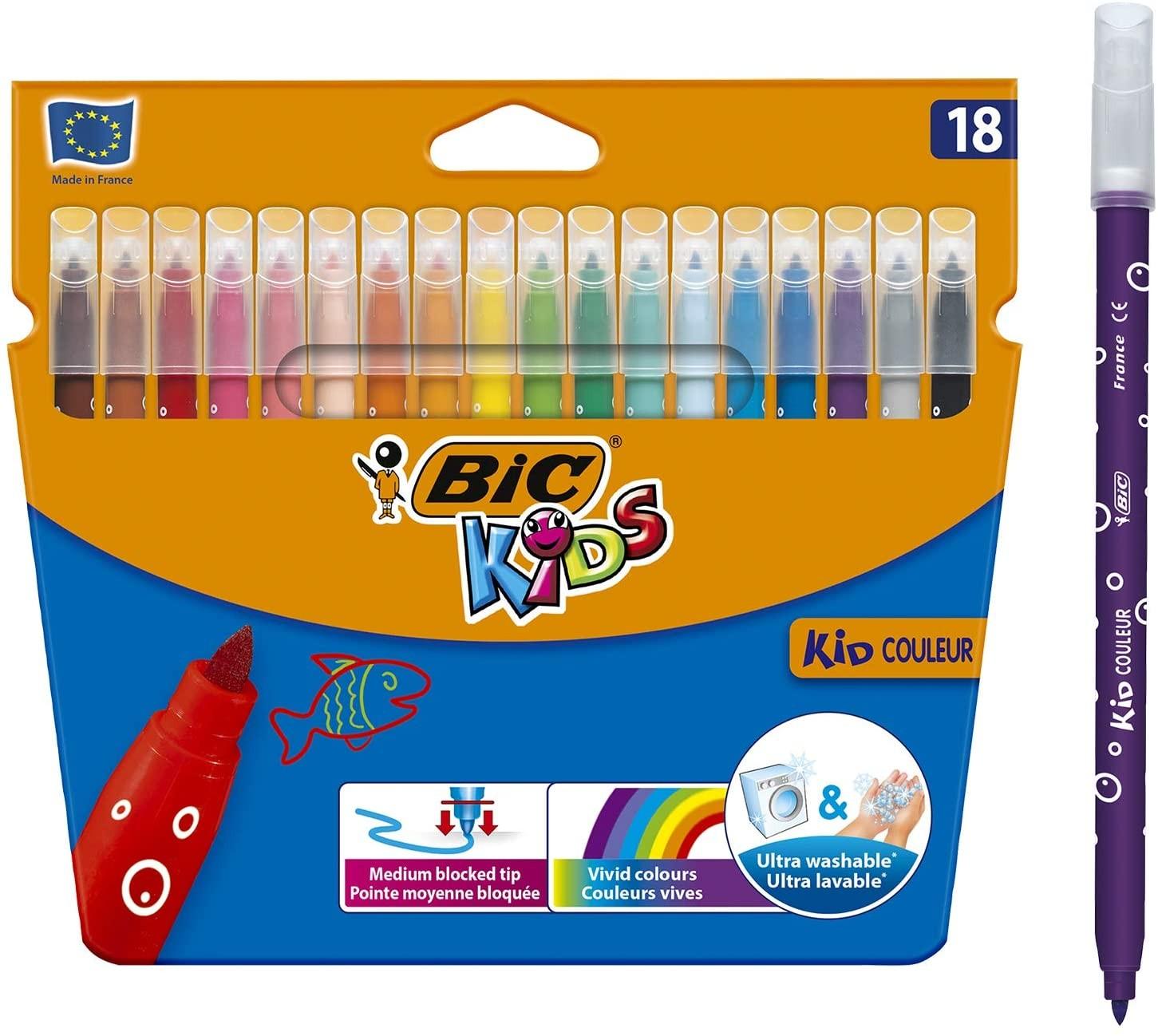 Bic Kids Colour Felt Pen 18's