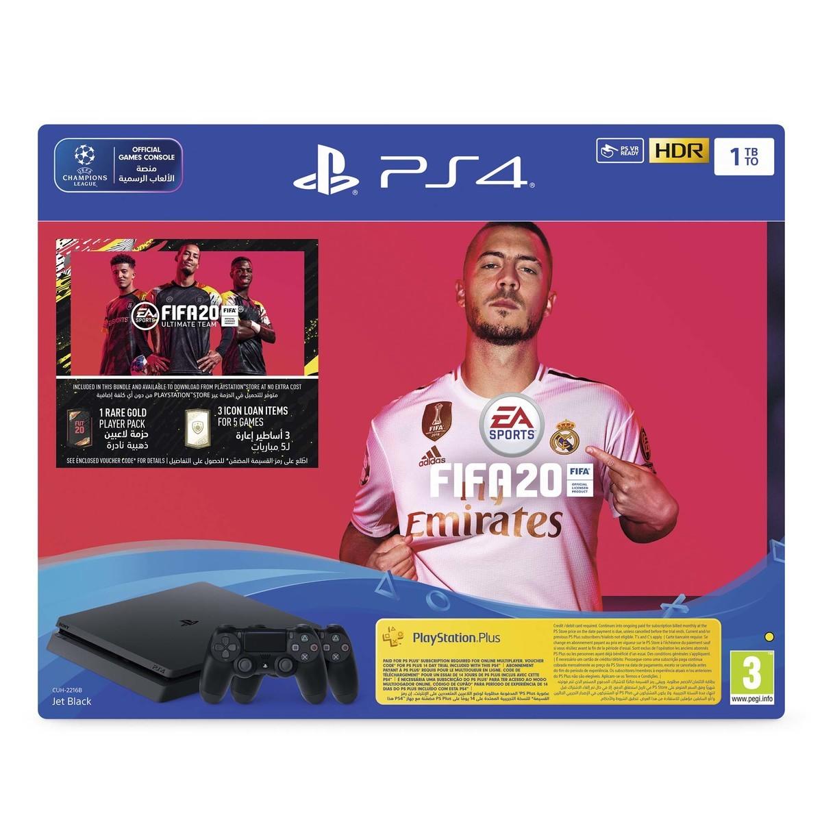 Sony PlayStation 4 Slim 1TB FIFA20 + DS4 Controller Bundle