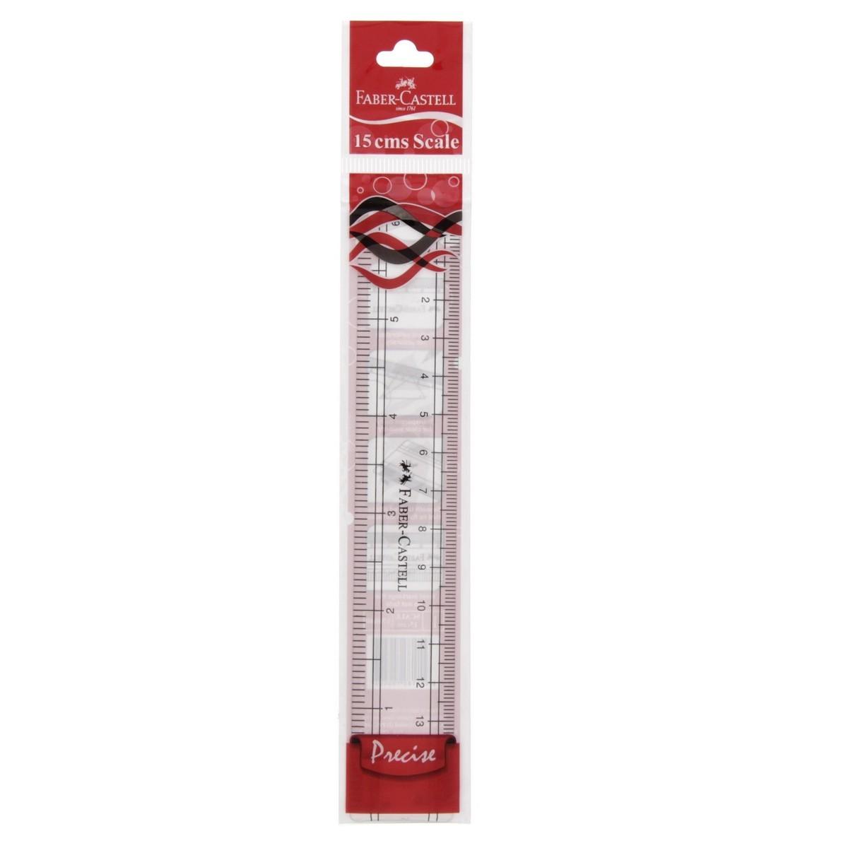 Faber-Castell 15cms Plastic Ruler