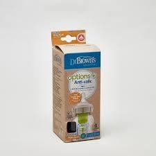 خيارات تدفّق طبيعي + قارورة إطعام أطفال مضادة للمغص من دكنور براونز - 5 أوقية